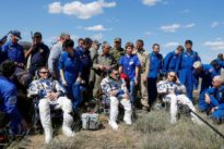 Capsule carrying space station crew lands in Kazakhstan