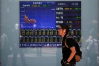 Asian shares fall, dollar at seven-month high after Yellen comments