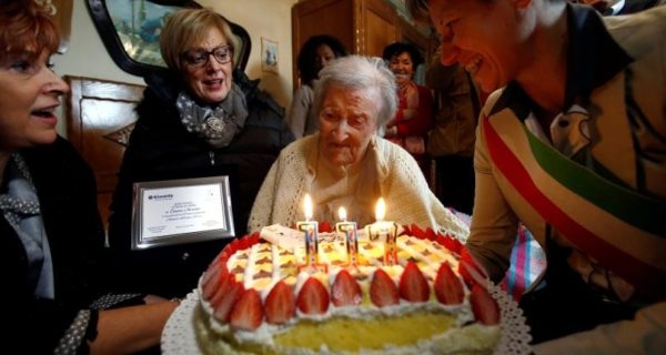 Thriving on raw eggs, world`s oldest person marks 117th birthday in Italy