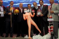 Inflatable doll `gift` to minister sparks anger in Chile