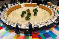 EU leaders grope for unity as Britain walks out