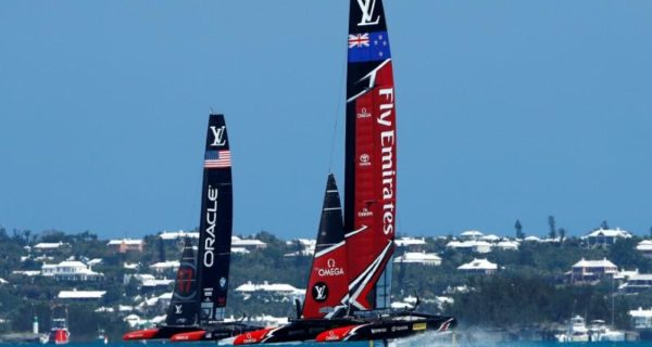 New Zealand pile pressure on USA in America`s Cup final