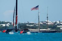 New Zealand reach match point against U.S. in America`s Cup