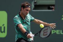 Federer wielding SABR with devastating effect