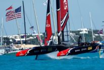 New Zealand pedal their way to brink of America`s Cup glory