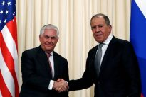Russia`s Lavrov meets Tillerson, says feels U.S. ready to continue dialogue