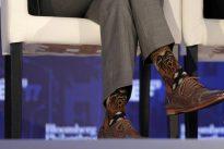 Canada`s Trudeau sparks Star Wars/Star Trek spat with Chewbacca socks