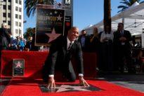 Wrestler turned actor Dwayne 'The Rock' Johnson receives star on Walk