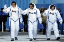 U.S., Russian, Japanese crew arrive at space station