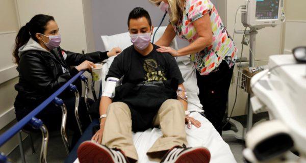 U.S. flu outbreak worsens- hospitalizations highest in nearly a decade