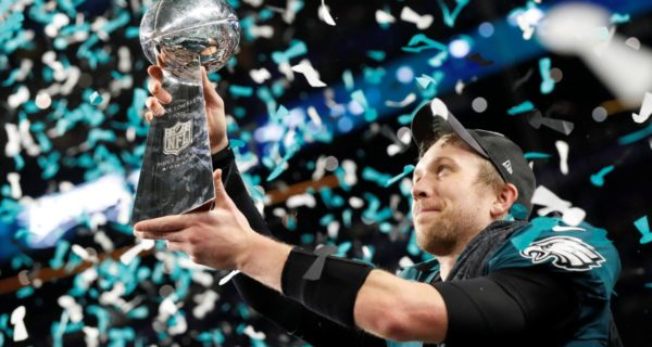 Eagles stun Patriots for first Super Bowl title