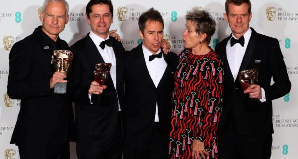 'Three Billboards' leads the pack at politically edged BAFTA awards