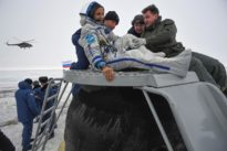 U.S.-Russian crew returns from space station: NASA TV