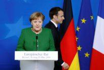 Merkel allies limit her room on euro zone reform before Macron meeting