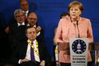 Germany's Merkel, ECB's Draghi exchange views