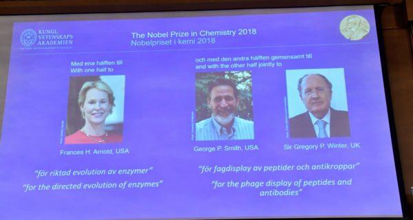 Trio wins chemistry Nobel for work on antibody drugs, smart enzymes