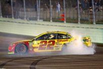 Logano wins race, NASCAR season title