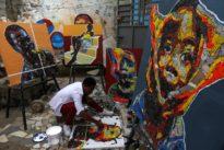 Ivory Coast painter gives new life to e-waste