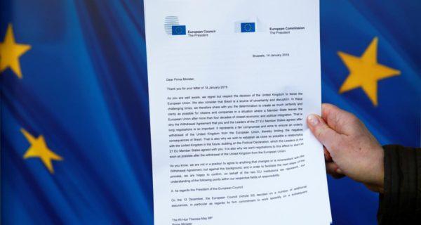 EU writes to UK providing assurances over Ireland Brexit backstop