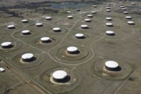 Oil falls on increased U.S. rig count, China industrial slowdown