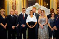Britain's Prince Harry and Meghan attend armed forces charity awards