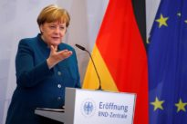 Contradicting Trump, Merkel says Islamic State not defeated