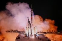Russian space rocket lifts off with astronauts who survived rocket…