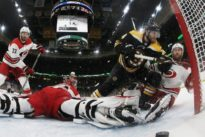 Bruins blitz Canes for 2-0 lead in East finals