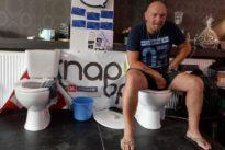 The longest toilet break? Belgian sits for five days in bid for record