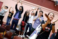 Champagne flows as landslide democratic win puts pressure on Hong Kong leader