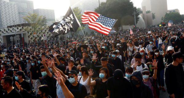 China suspends U.S. military visits to Hong Kong, sanctions U.S.-based NGOs