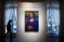 An auction with a twist: Mona Lisa made of Rubik's Cubes goes on sale in Paris