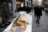 Russian artist unveils Putin 'superhero' paintings in Istanbul