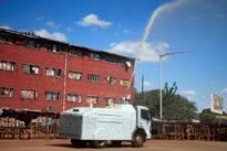 Zimbabwe turns water cannon on coronavirus