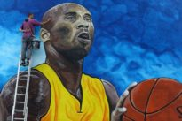 Kobe Bryant honored in Bosnia with giant mural on school wall
